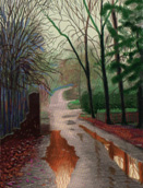 The Arrival of Spring series by David Hockney's
